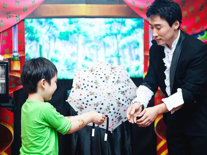magic show in south korea, child birthday party