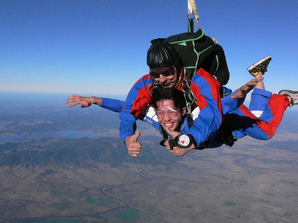 skydiving in Korea, tandem sky diving in Korea