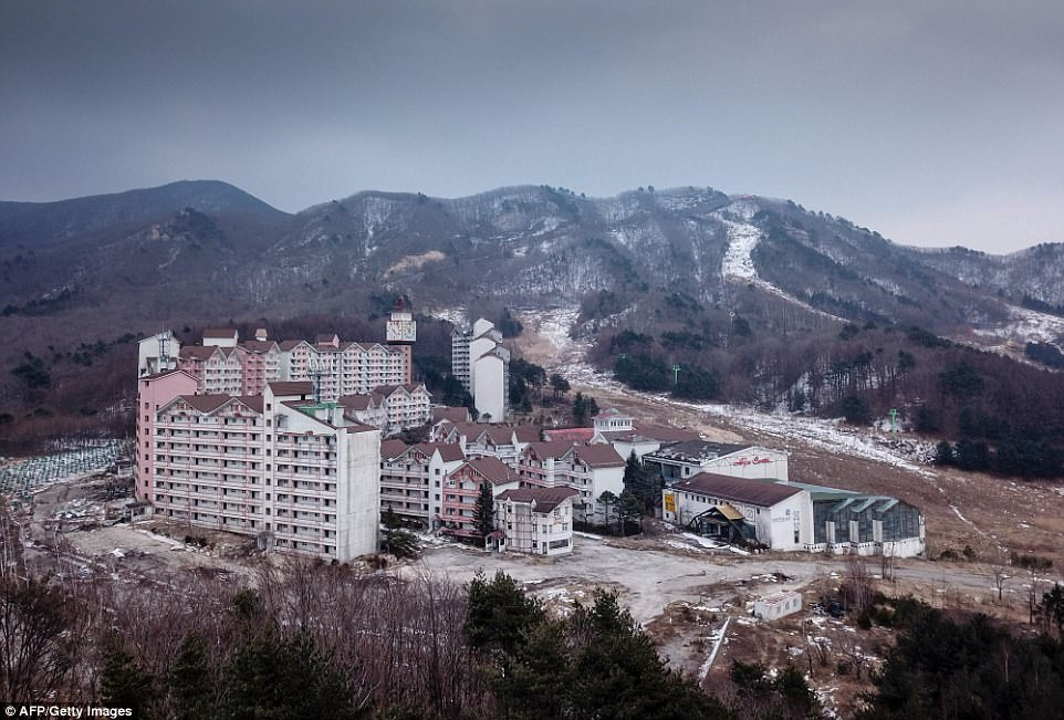 abandoned ski resort in Korea