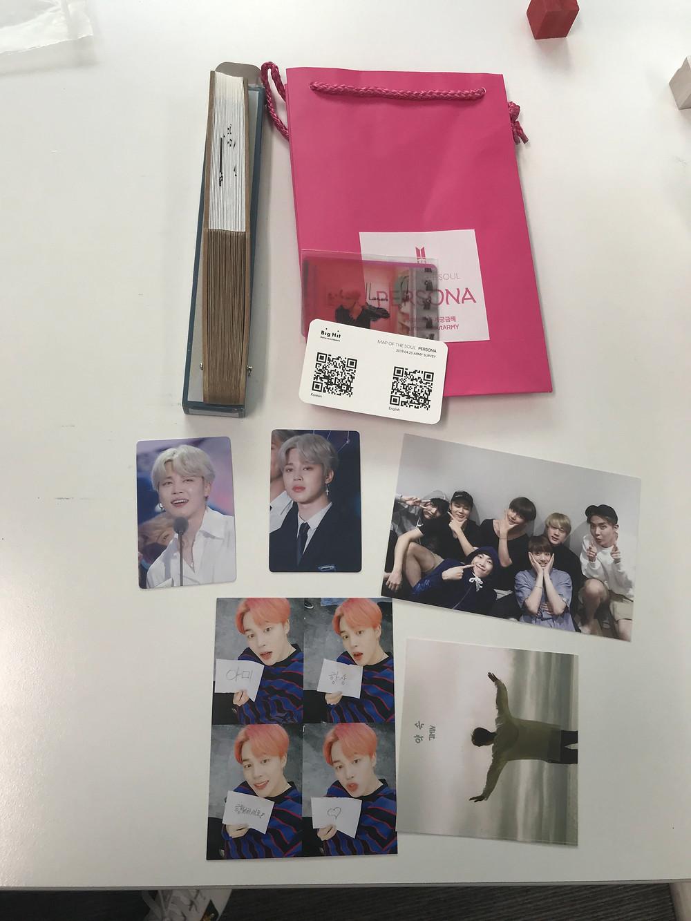 bts persona album merchandise in korea