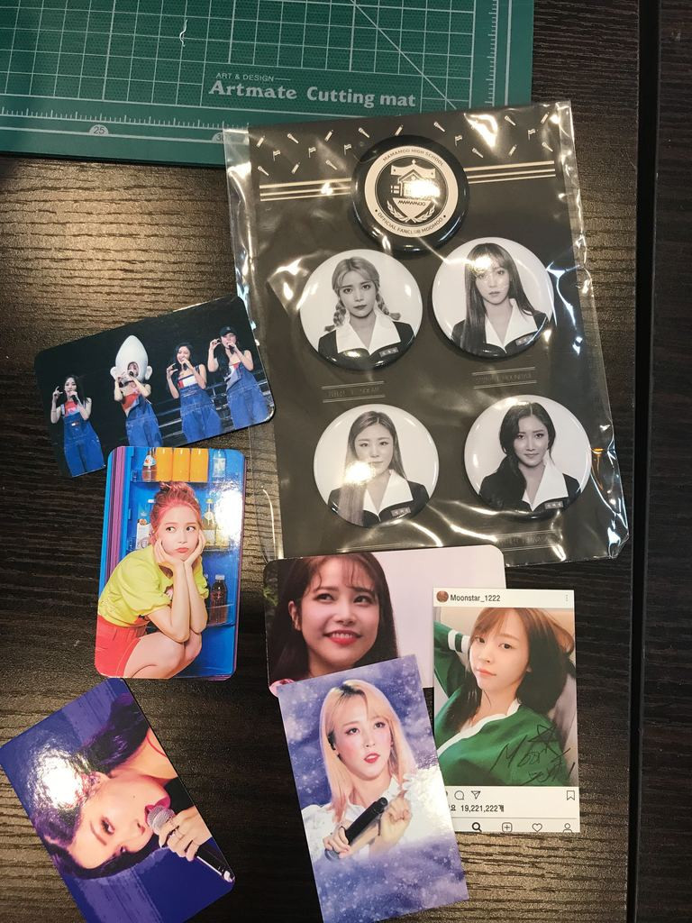 mamamoo pins. Mamamoo merch in Korea