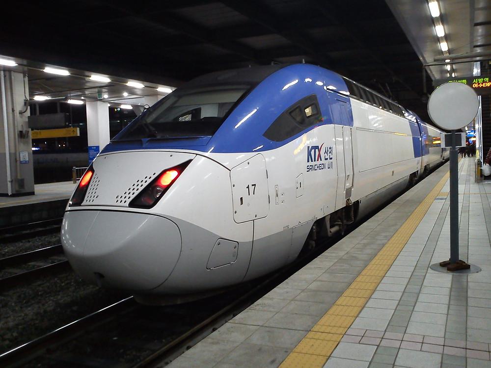 KTX Train in Korea by Korail