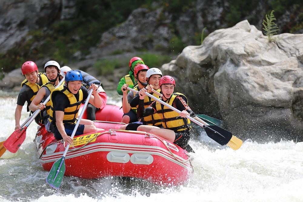 white water rafting in south korea