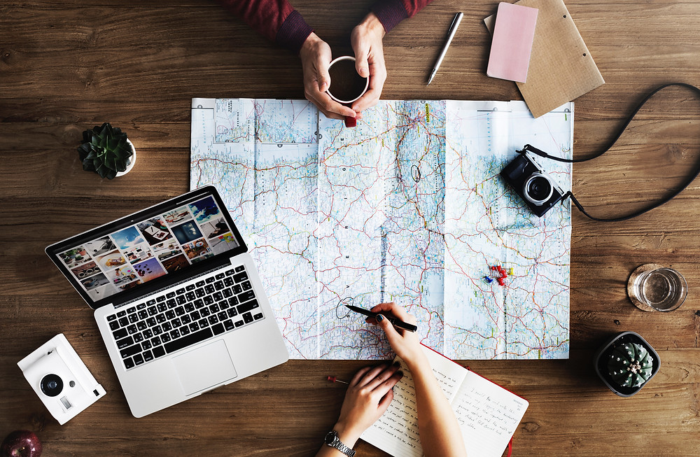 trip planning or itinerary planning