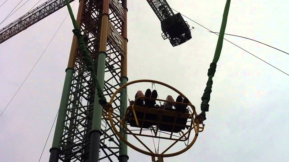 ejection seat and big swing rides in Korea