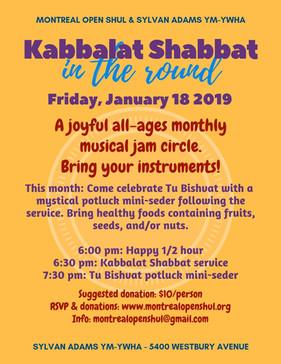 Kabbalat Shabbat in the Round Jan 18 201