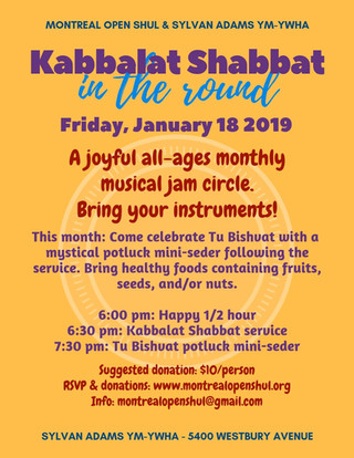 Kabbalat Shabbat in the Round Jan 18 201