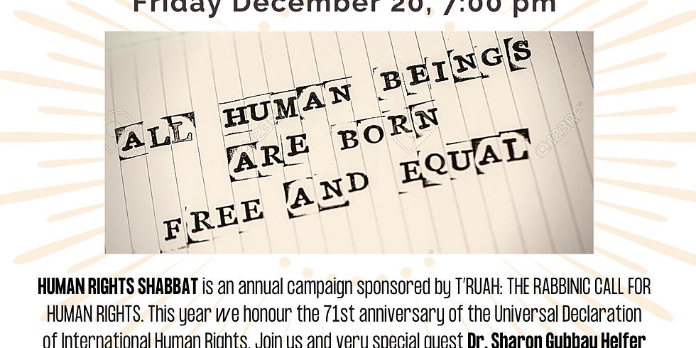 Human Rights Shabbat - 3rd Friday of December