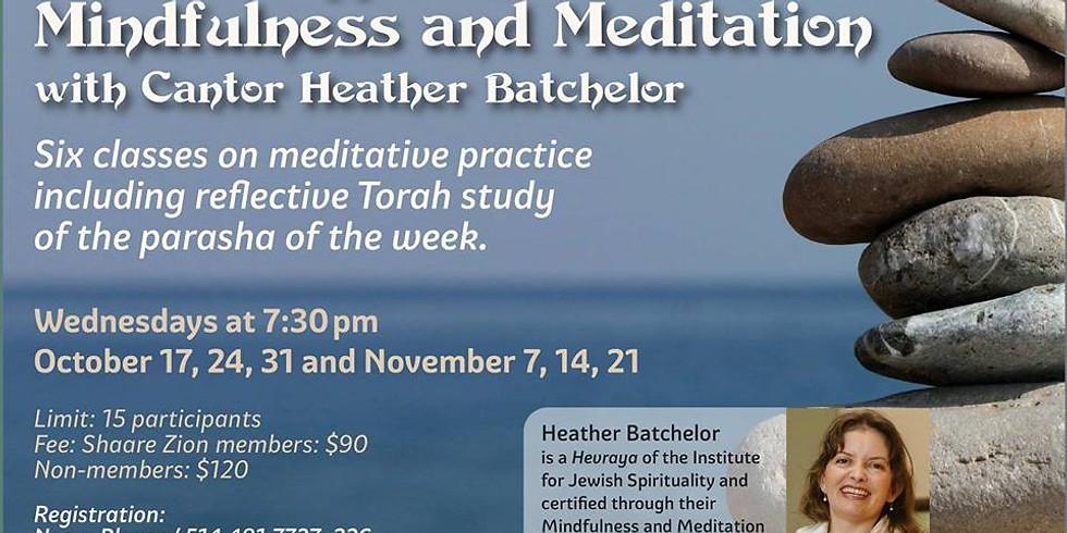 A Jewish Approach to Mindfulness Meditation