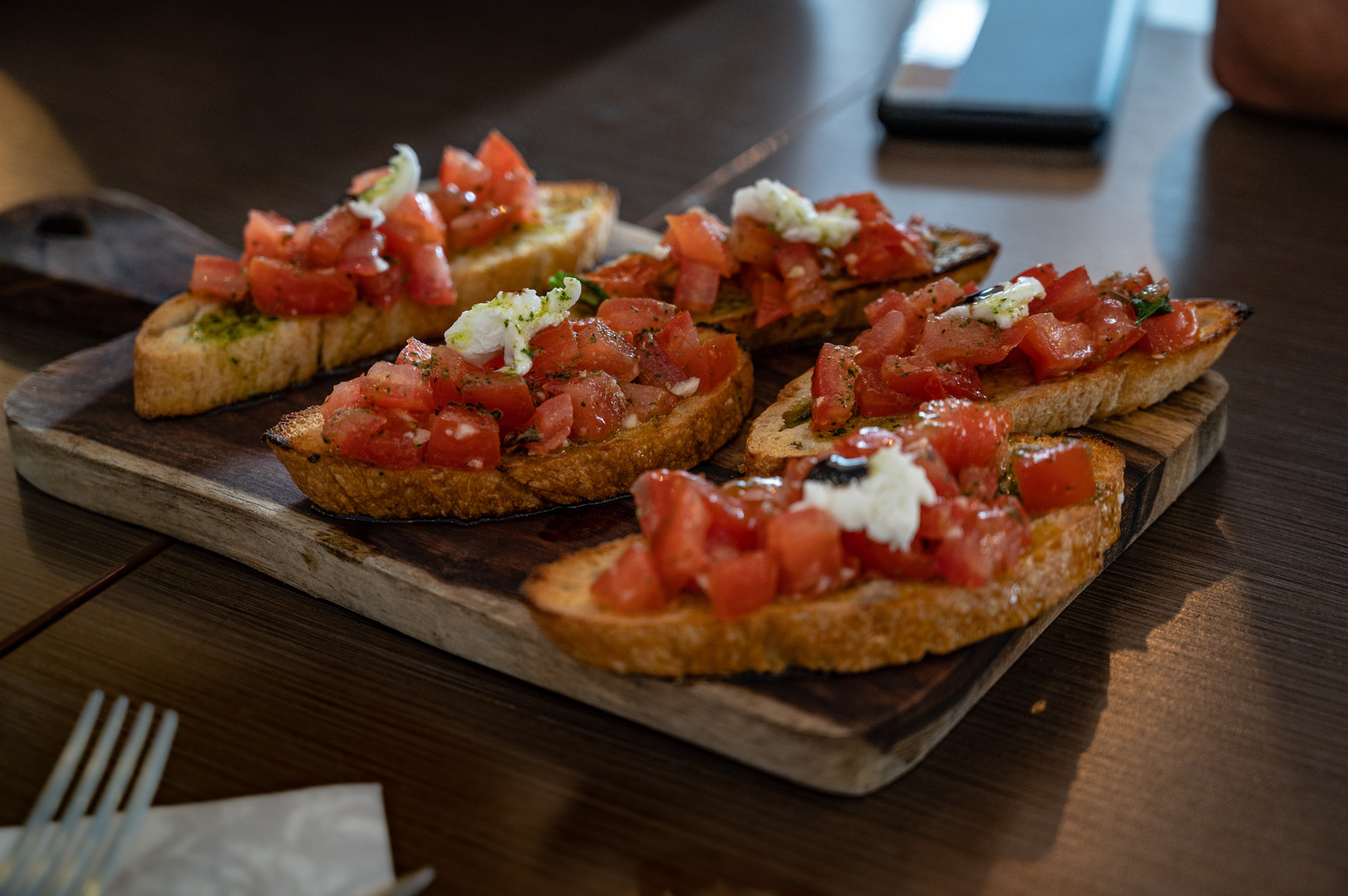 Bruschetta from Saggios Scratch Italian Kitchen in Albuquerque
