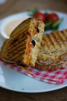 Panini Sandwich at Saggio's Uptown Albuquerque