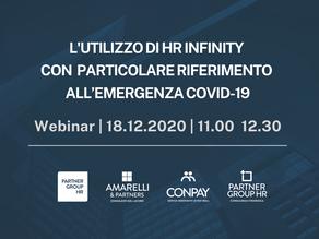 Webinar: l'utilizzo di Hr Infinity con particolare riferimento all'emergenza Covid-19