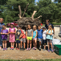 Students gather to learn about conservation.