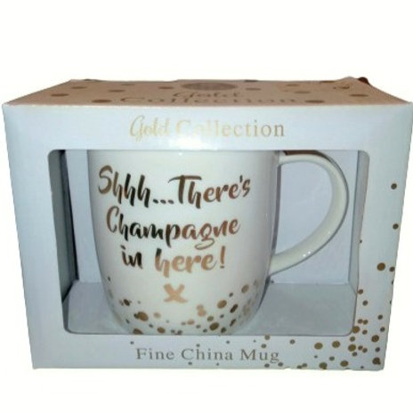 Shhh..There's Champagne In Here Coffee Mug