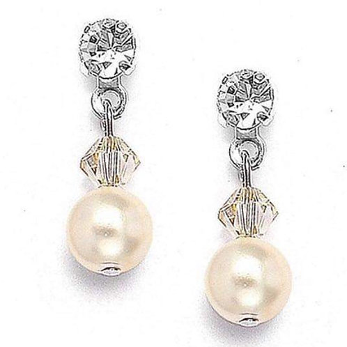 #3 Dainty Ivory Pearl with crystal