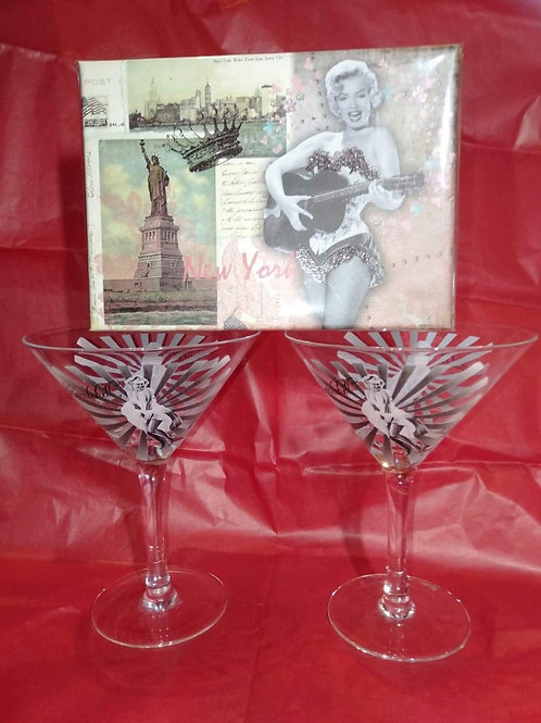 Marilyn martini glasses(each sold seperately)