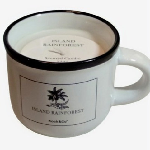 Candle Coffee Cup Island Rainforest