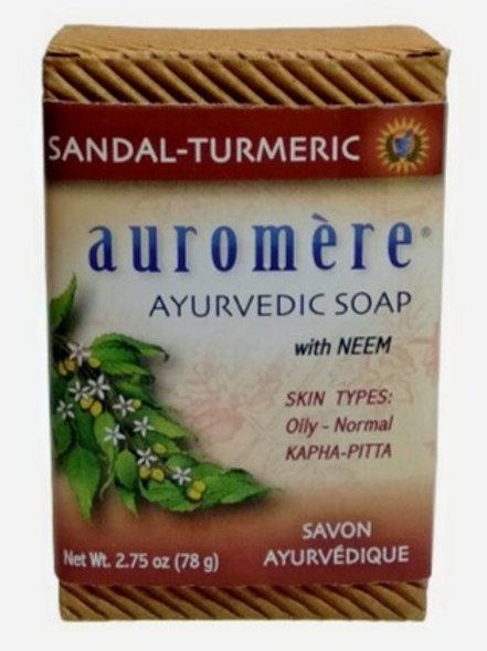 Auromere With Neem - Sandal Tumeric Soap