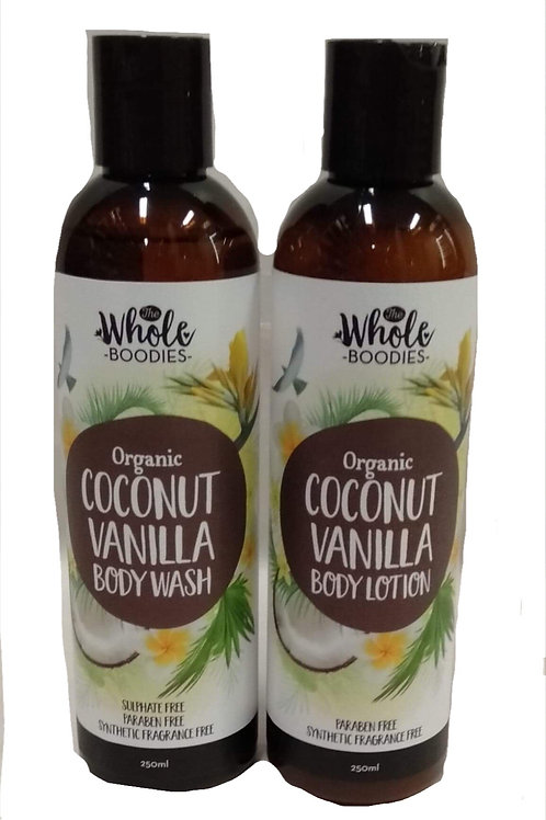 Coconut body wash & lotion (sold seperately)