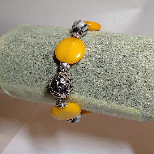 Yellow Jade Bracelet