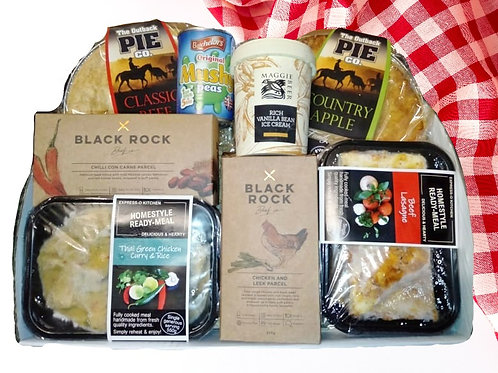 Frozen food Hampers made to order. (Phone orders only.)