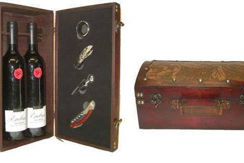 Antique Style Double Wine Box