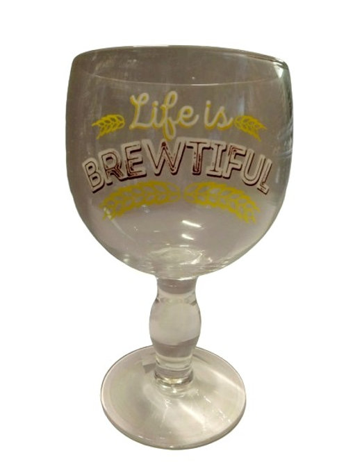 Life Is Brewtiful Beer Glass