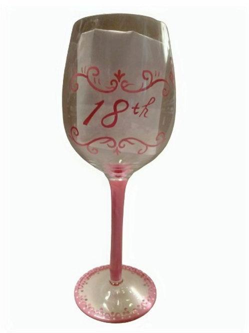 18th Wine Glass