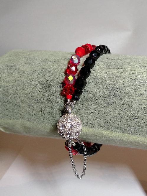 Red & Black Crystal Bracelet