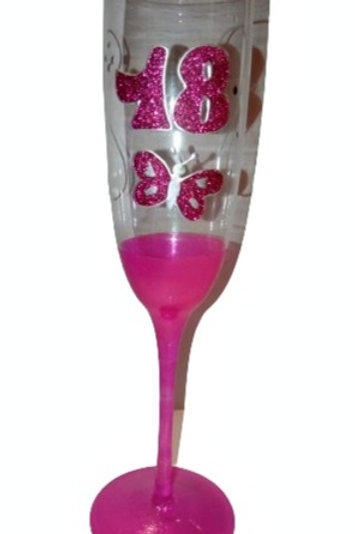 18th Butterfly Champagne Glass