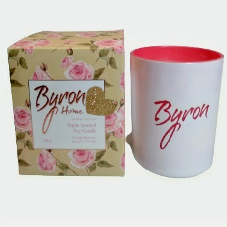 Candle Byron Orange Blossom, Jasmine & Vanilla