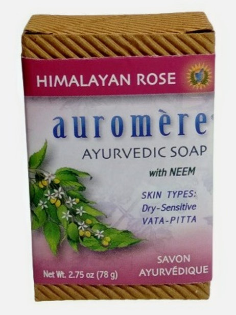 Auromere With Neem - Himalayan Rose Soap