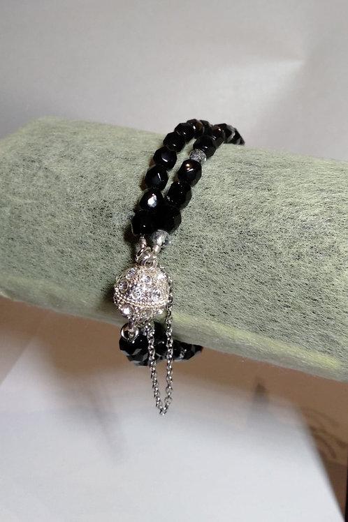 Black Double Crystal Bracelet