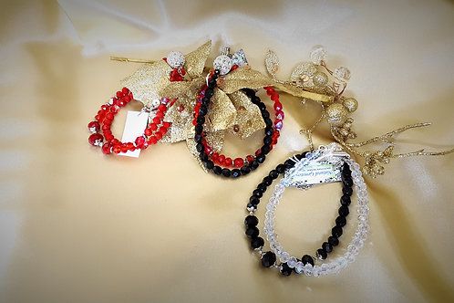 Antonia Maric Designs Handcrafted Double Crystal Braclets