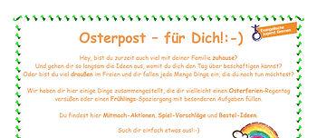 Osterpost - für Dich :)