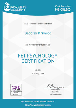 Pet Psychology Certificate