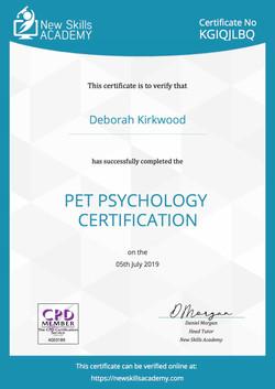 Pet Psychology Certificate