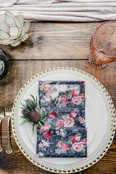 Whimsical tablesetting and acryllic insert