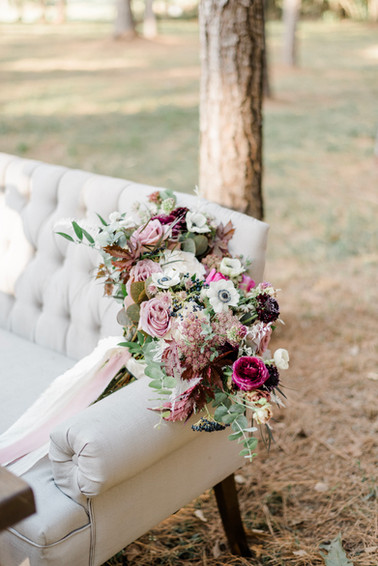 Floral of berry and blush hues