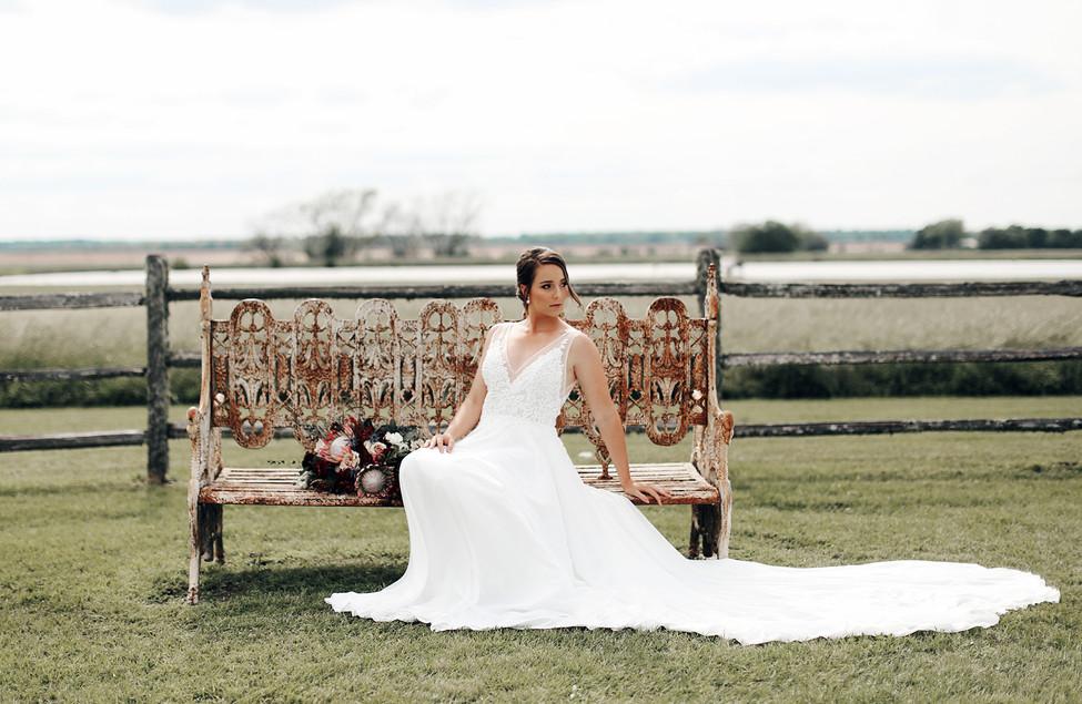 Gorgeous bride, gorgeous landscape