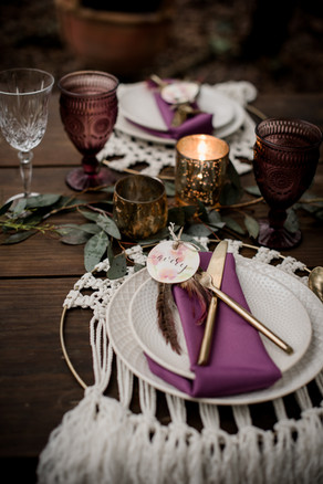 Macrame details and an eclectic setting