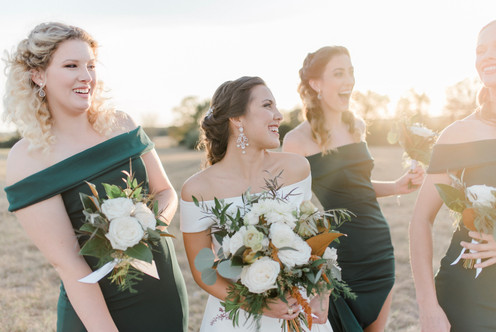 A bride and her gals