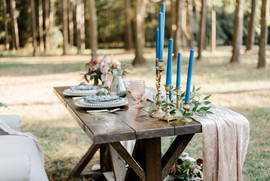 Tablescape of mixed colors that invite joy