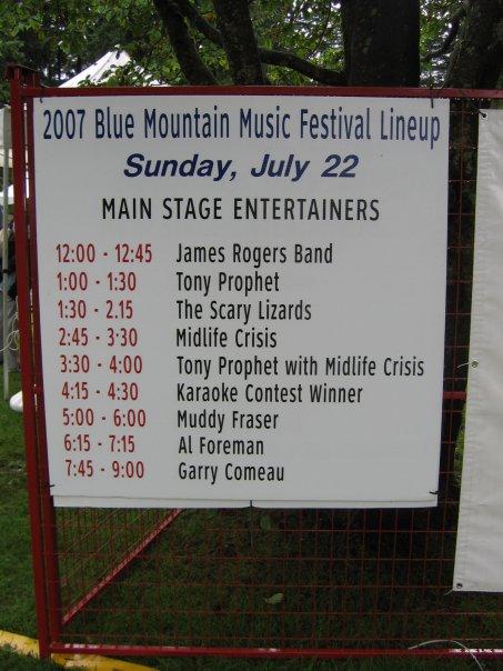 Blue Mountain Blues Fest