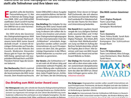 Max Junior Award 2020