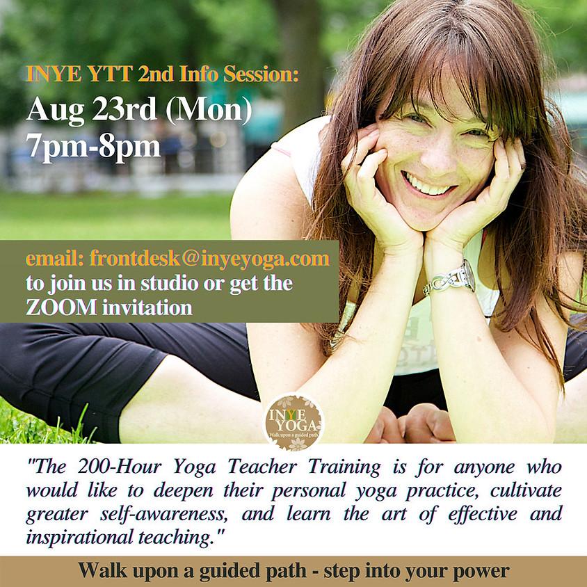 INYE YOGA TEACHER TRAINING (INFO SESSION)