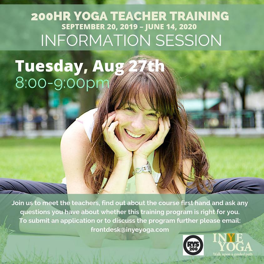 YOGA TEACHER TRAINING INFO SESSION