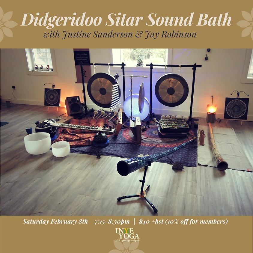 DIDGERIDOO SITAR SOUND BATH & GUEST (SOFIA JAMBOR)!