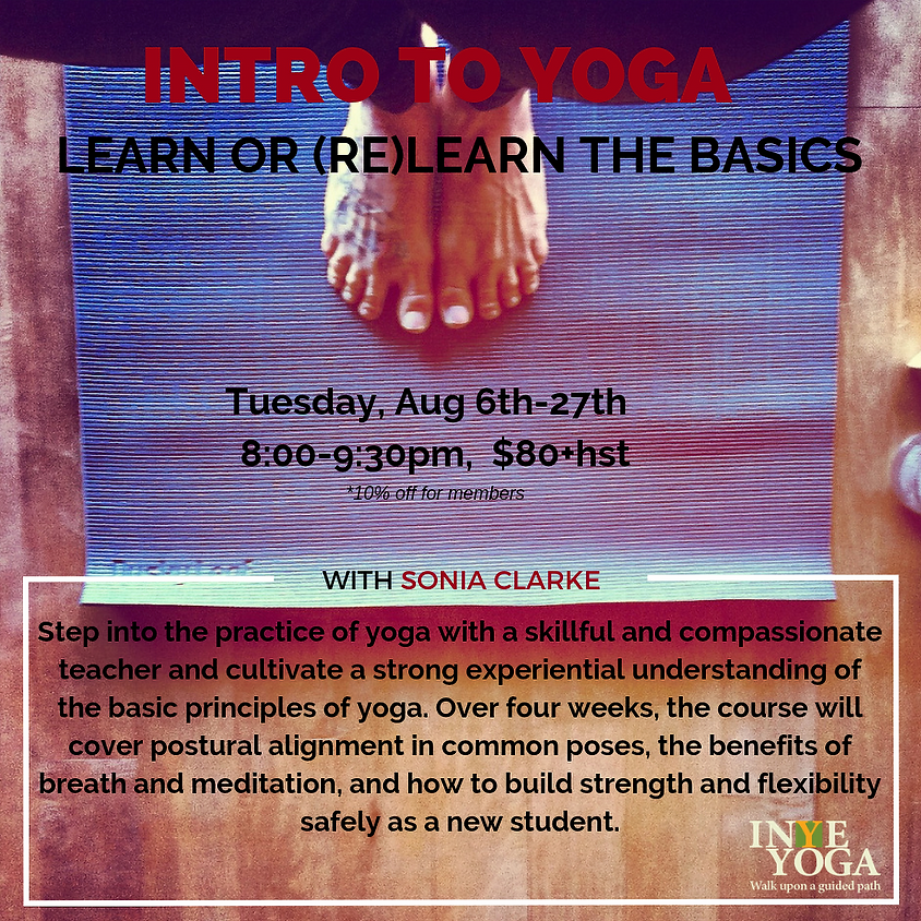 INTRO TO YOGA (August Session)