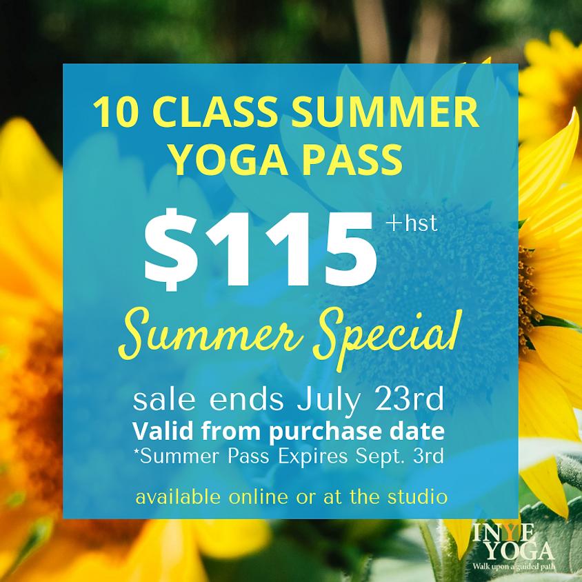 10 CLASS SUMMER SPECIAL
